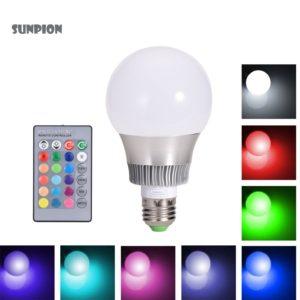 LED Badbeleuchtung Leuchtmittel Glühbirne LEDs Farbwechsel Fernbedienung Bad Küche Wohnzimmer