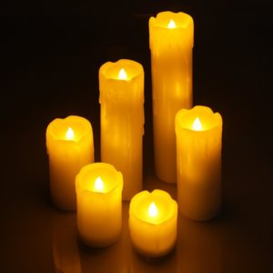 LED Kerzen Echtwachs Stumpenkerzen Set