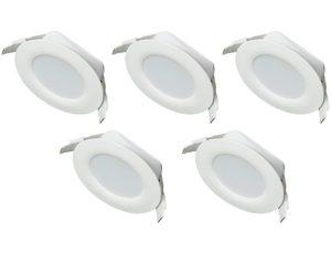 Deckenleuchten Bad Badezimmer Spots Leuchtmittel LED Badbeleuchtung Set