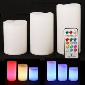 LED Badbeleuchtung Kerzen Fernbedienung Farbwechsel Spots Leuchter Leuchtmittel