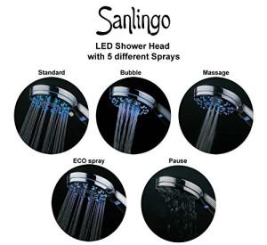 Sanlingo LED Brause/Duschkopf - Hier kaufen!