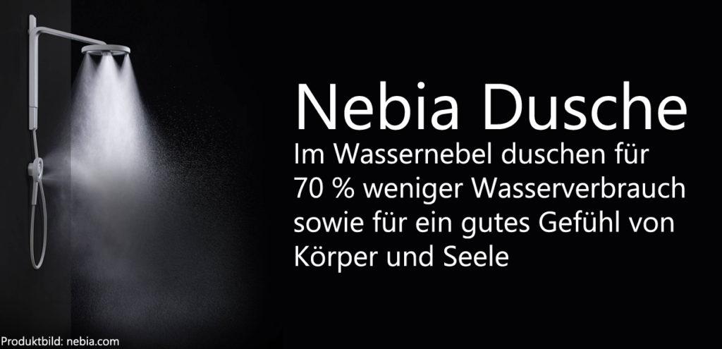 Nebia Dusche 70 % Wasser beim Duschen sparen