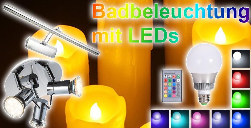 led badbeleuchtung buntes licht und stromsparende. Black Bedroom Furniture Sets. Home Design Ideas