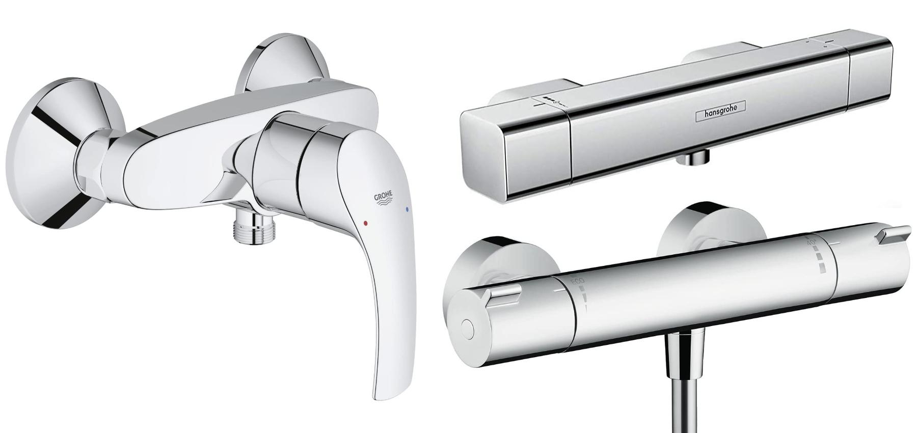 Wollen Sie eine Mischbatterie für die Dusche kaufen? Hier finden Sie die richtige Duscharmatur fürs Bad aus Deutschland – mit DIN-Norm-Anschlüssen. Brausebatterie zum Duschen und Wannenbatterie mit Wasserhahn für die Badewanne zur Auswahl. Amazon Prime inkl. Versand €
