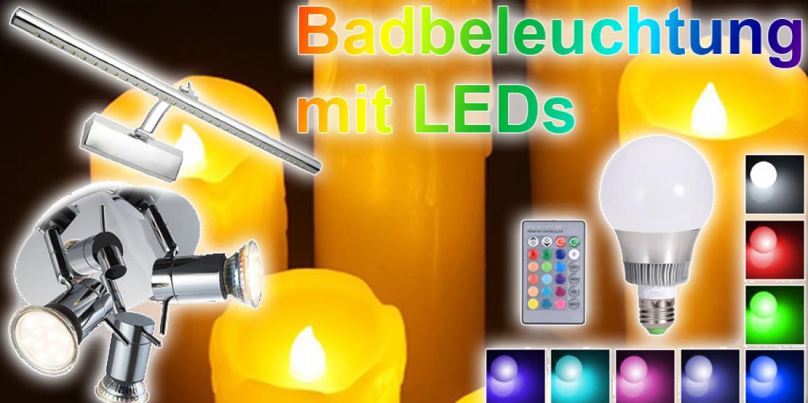 LED Badbeleuchtung: Buntes Licht und stromsparende Leuchten im Bad