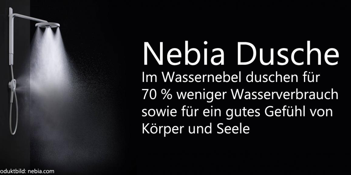 Nebia Dusche: Dank neuem Duschkopf 70 % Wasser sparen