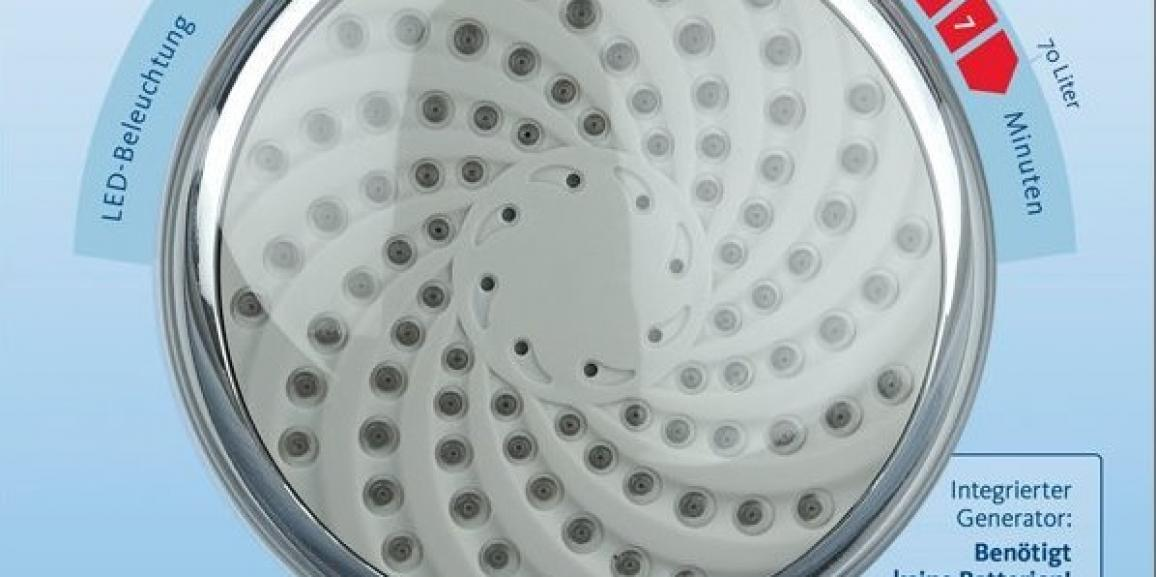 Mit bunter Brause 2017 besser duschen: Ein LED Duschkopf bringt Licht in die Dusche