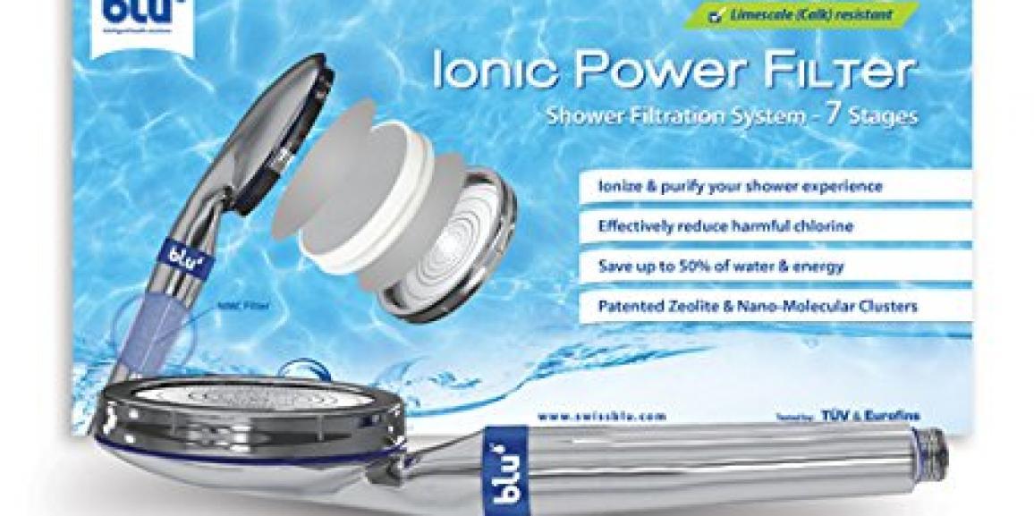 Hochwertige Sparbrause mit Wasserfilter, Duftzusatz und nur 8 Liter pro Minute