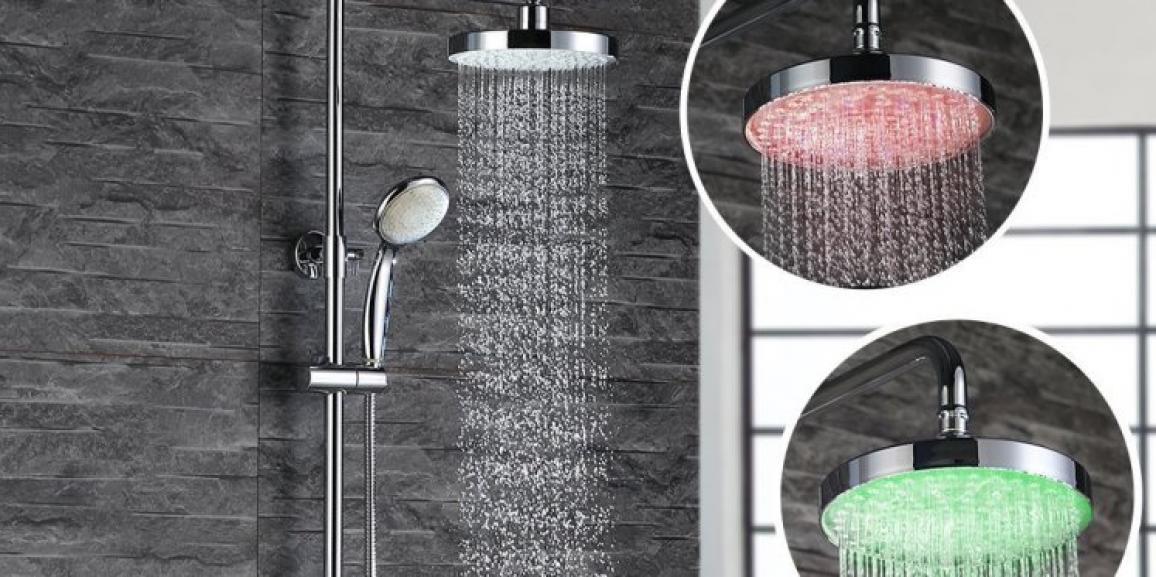Überkopfdusche mit Licht: die richtige Regendusche mit LEDs für Ihr Bad
