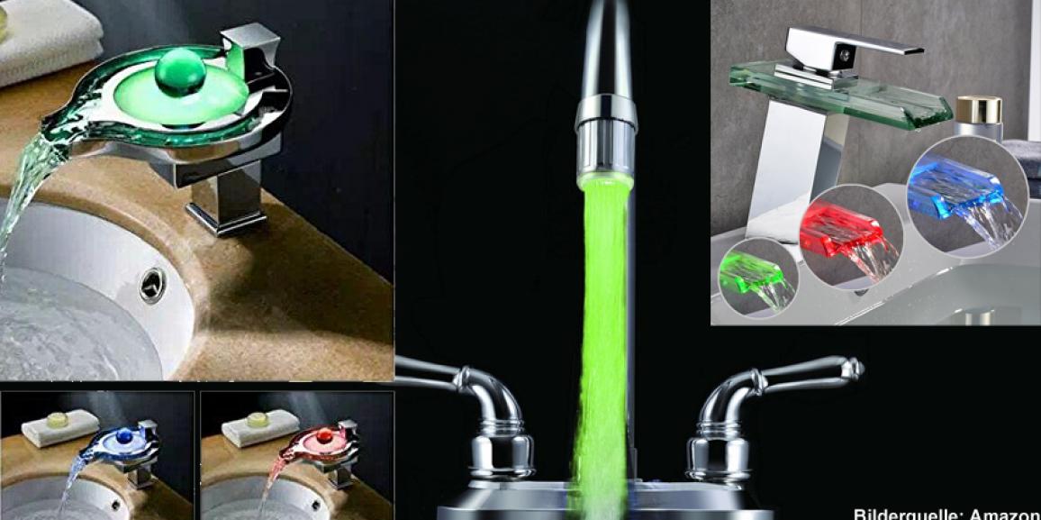 LED Wasserhahn: Leitungswasser mit LED Licht aufpeppen